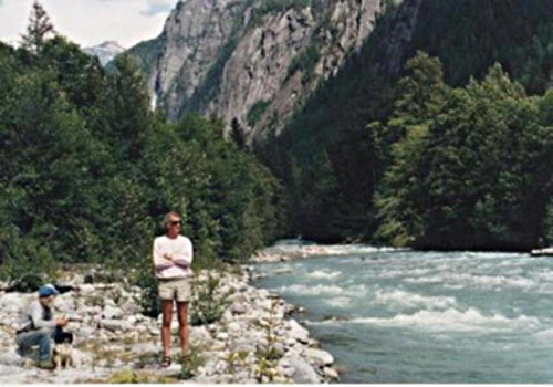 Sam Smythe and Bobo Fraser at the Teaqahan River c. 1991.jpg